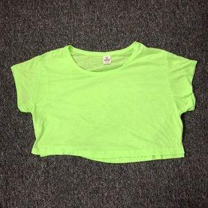 PINK Victoria Secret Lime Half Shirt
